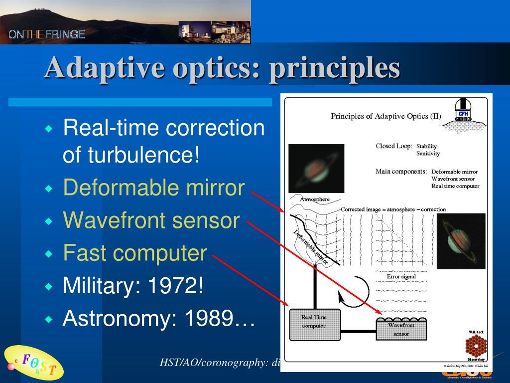 Adaptive optics: principles