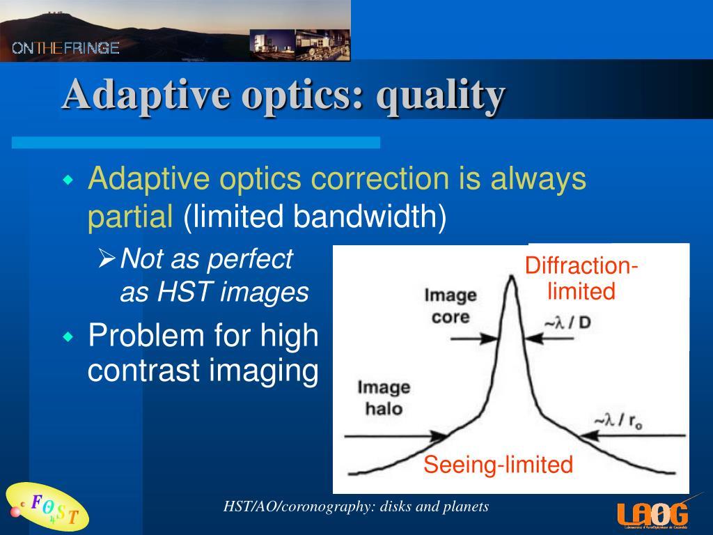 Adaptive optics: quality
