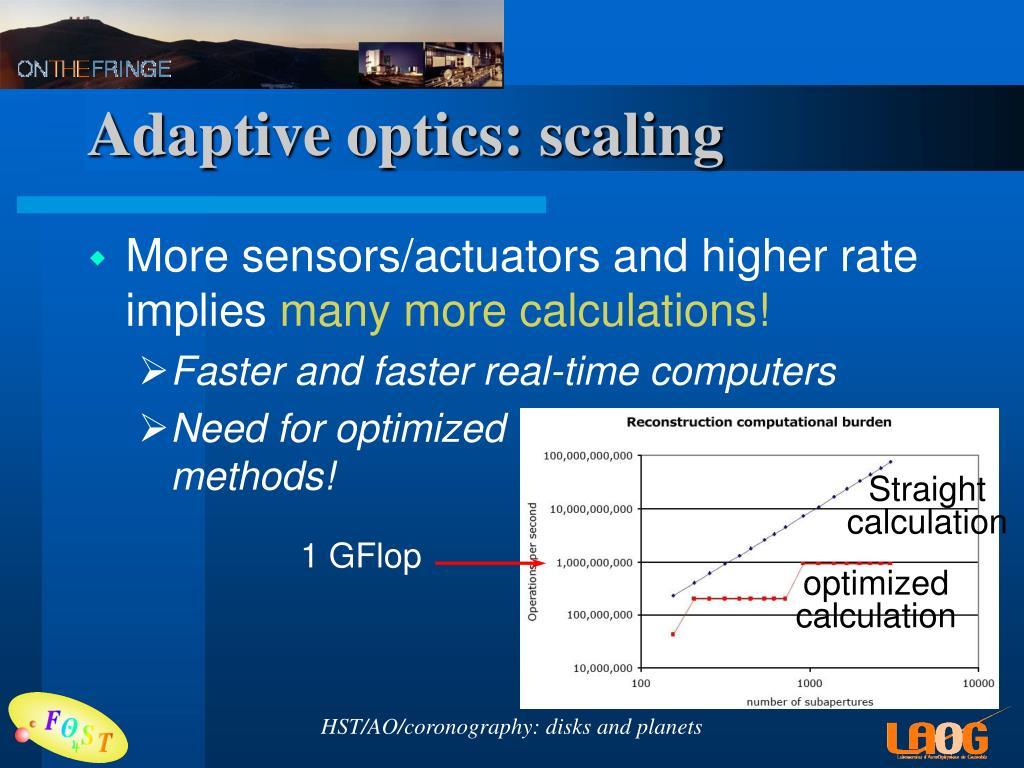 Adaptive optics: scaling