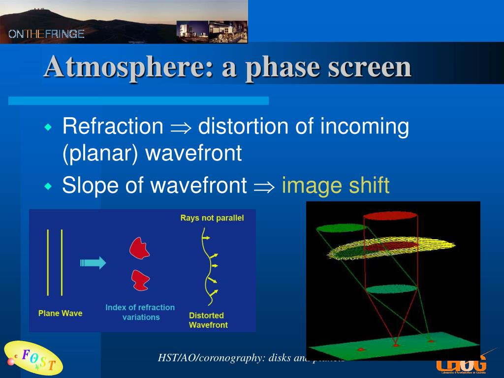 Atmosphere: a phase screen