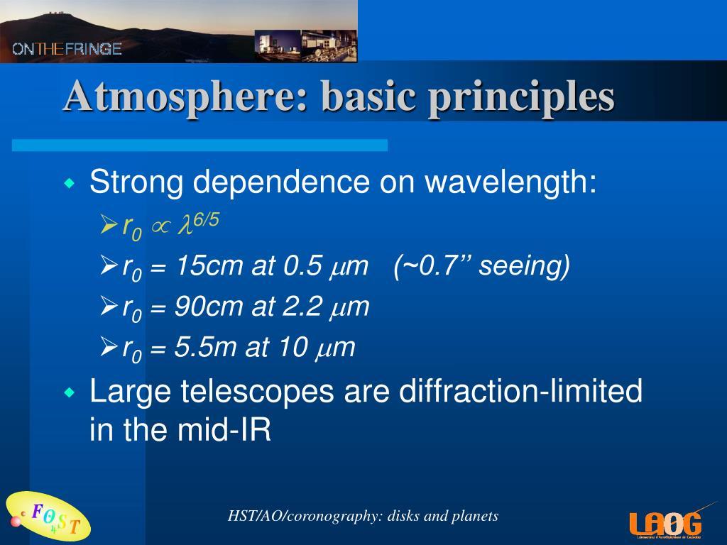 Atmosphere: basic principles