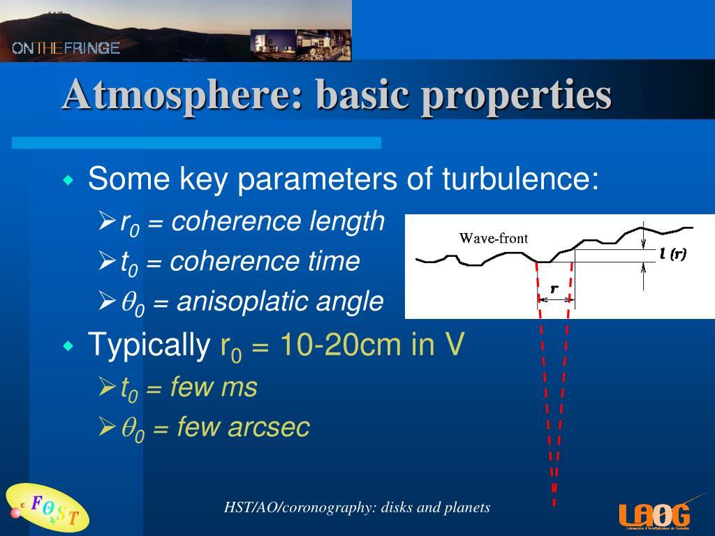Atmosphere: basic properties