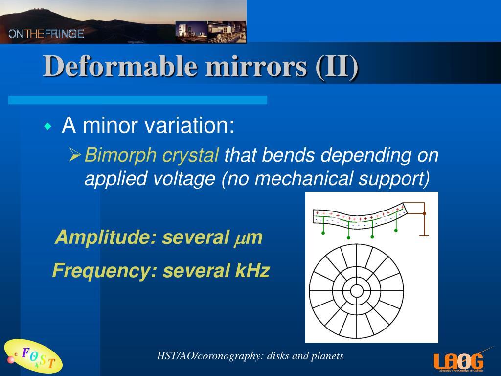 Deformable mirrors (II)