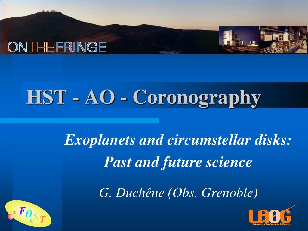 HST - AO - Coronography