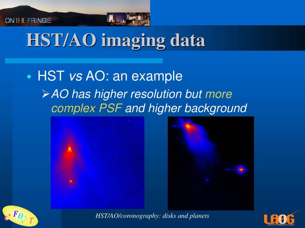 HST/AO imaging data