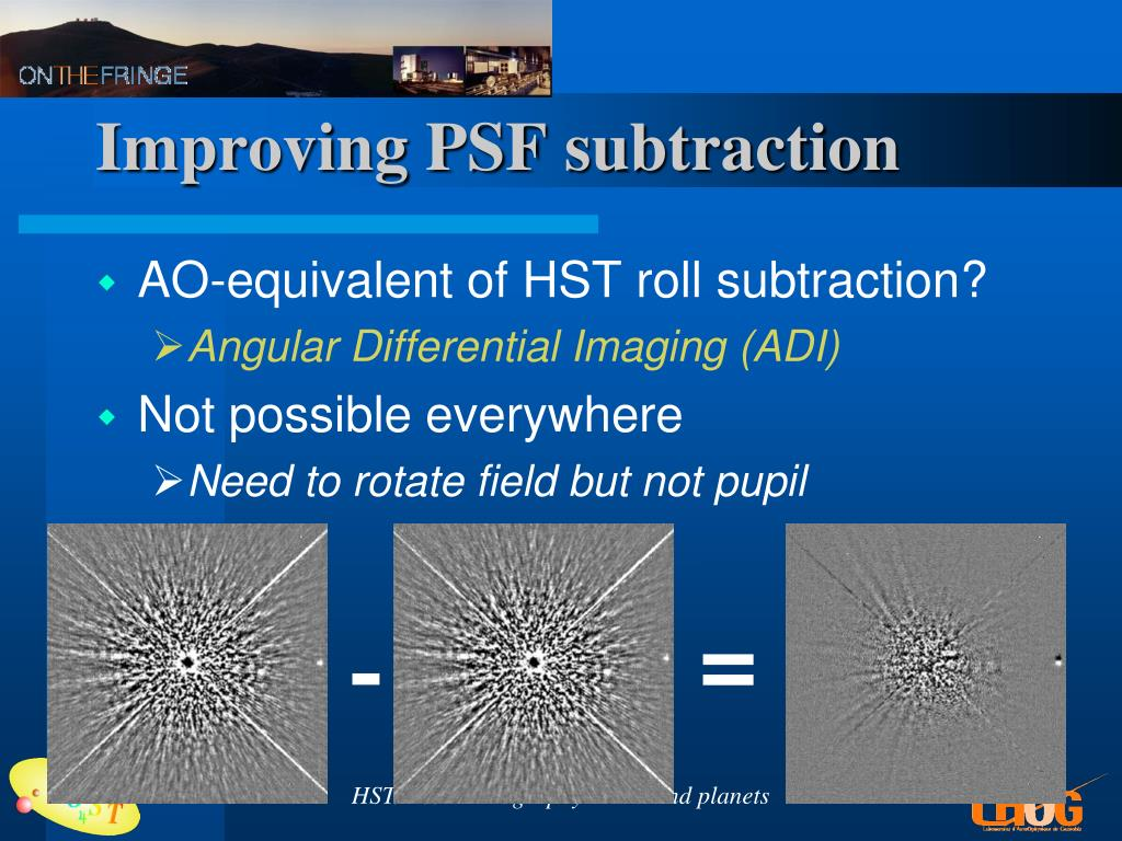 Improving PSF subtraction