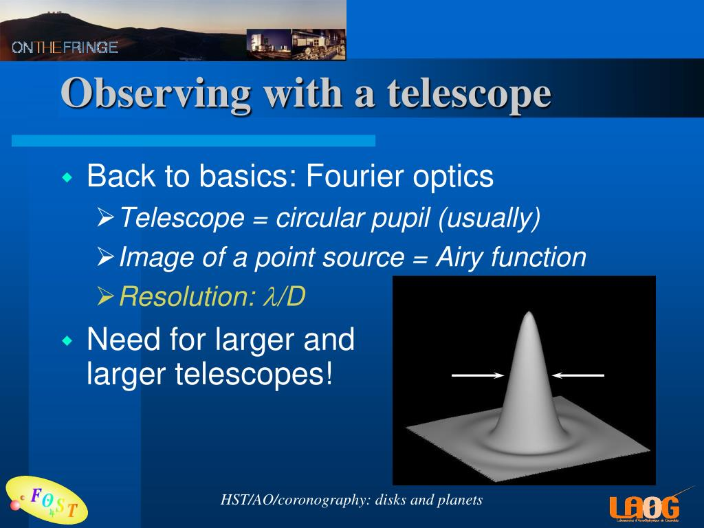 Observing with a telescope