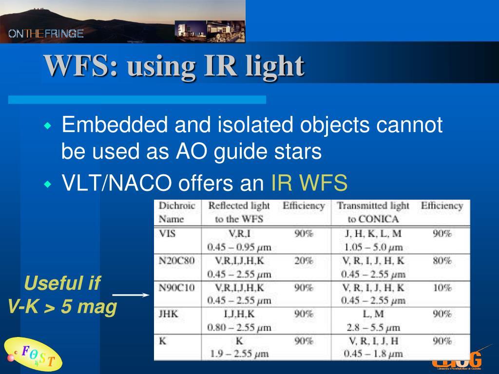 WFS: using IR light