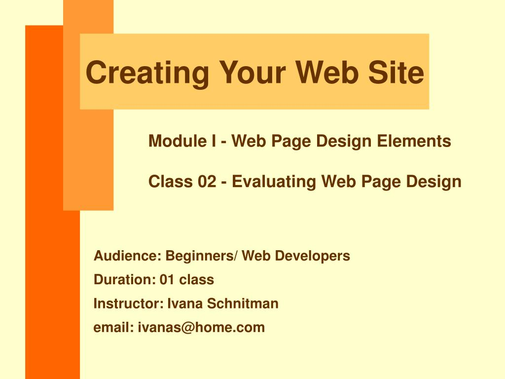 creating your web site l.