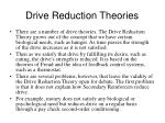 drive reduction theories