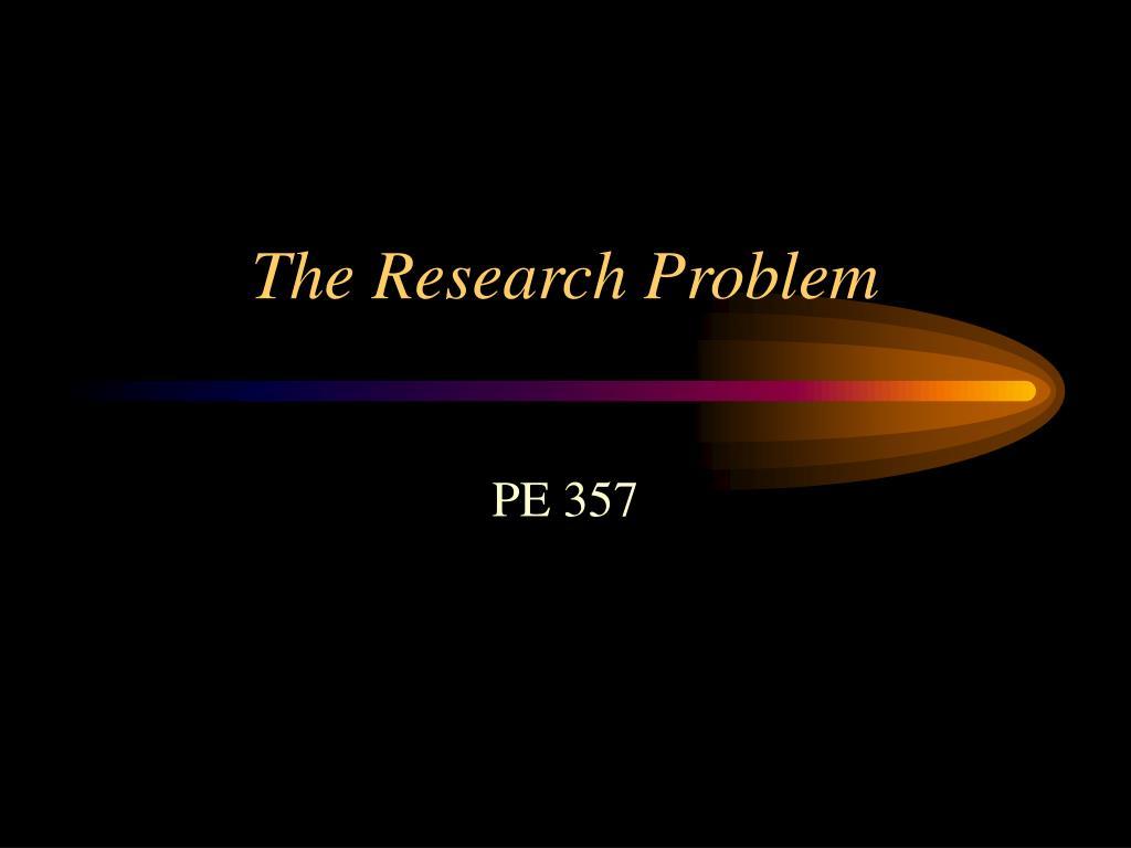 the research problem l.