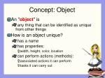 concept object