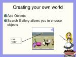 creating your own world27