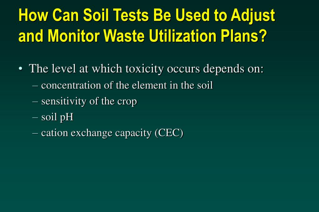 How Can Soil Tests Be Used to Adjust and Monitor Waste Utilization Plans?