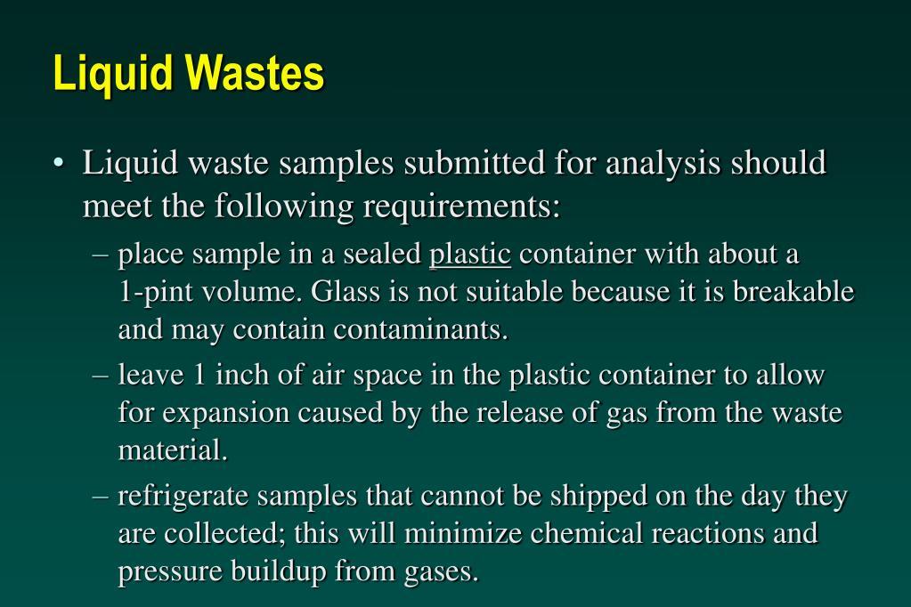 Liquid Wastes