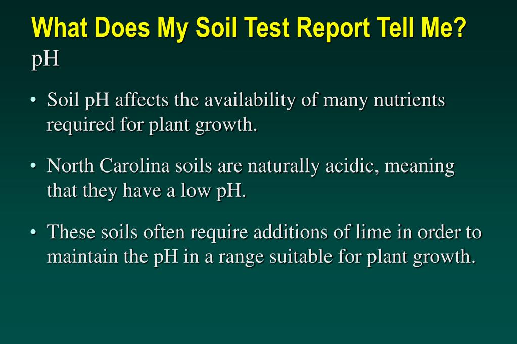 What Does My Soil Test Report Tell Me?