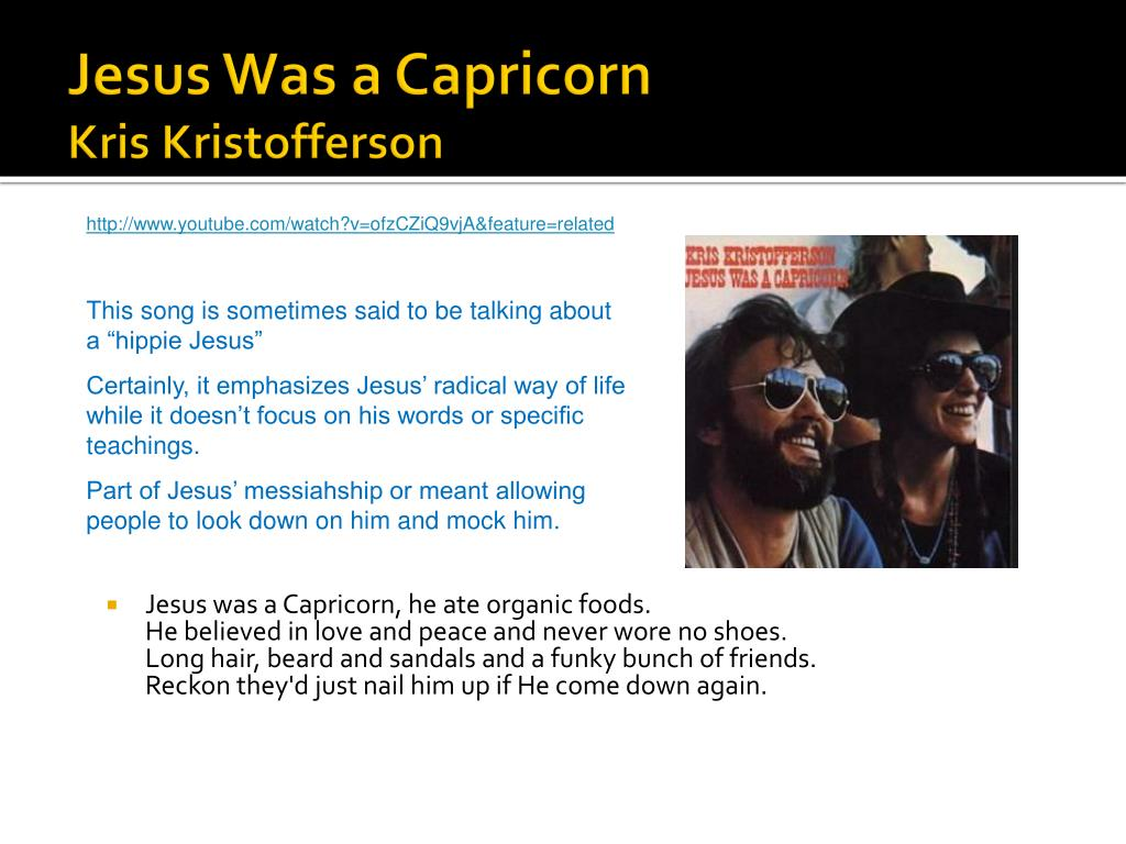Jesus Was a Capricorn