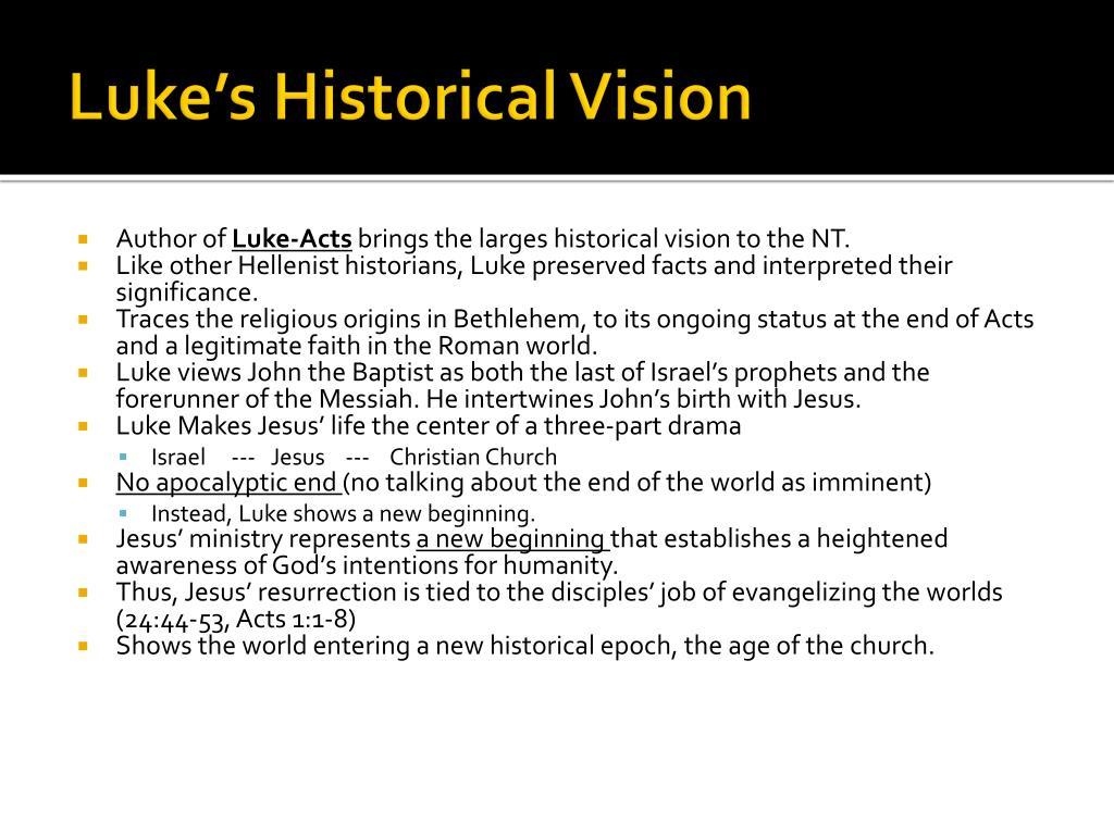 Luke's Historical Vision