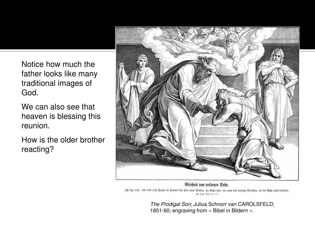 Notice how much the father looks like many traditional images of God.
