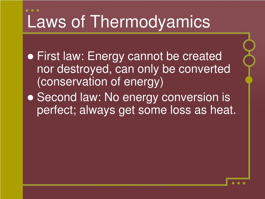 Laws of Thermodyamics