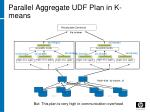 parallel aggregate udf plan in k means