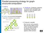 parallel processing strategy for graph structured computation