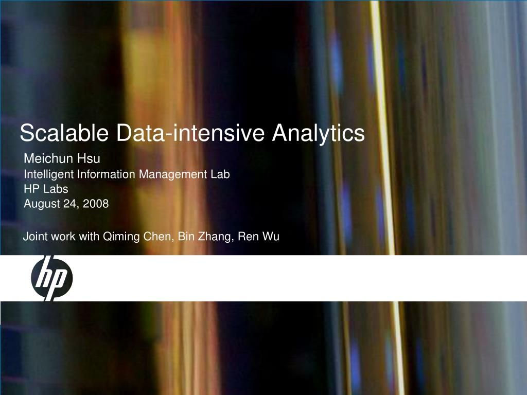scalable data intensive analytics l.