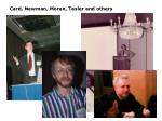 card newman moran tesler and others