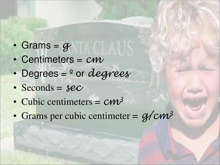 Grams =