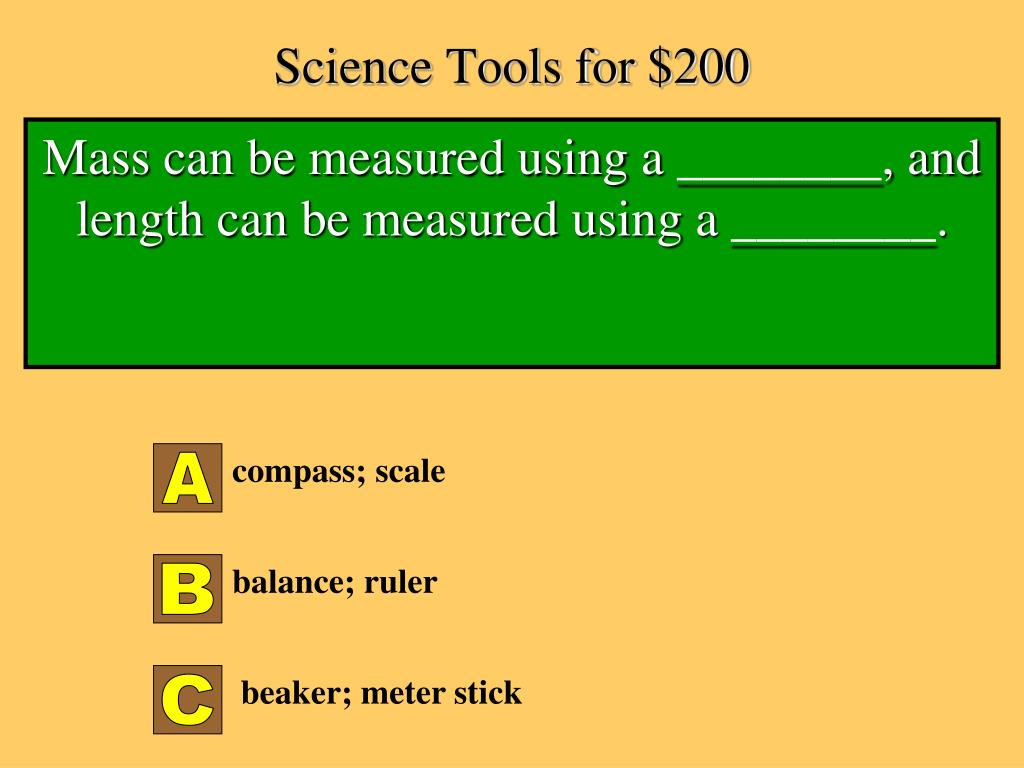 Science Tools for $200