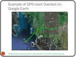 example of gps track overlaid on google earth