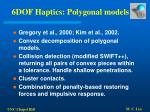 6dof haptics polygonal models