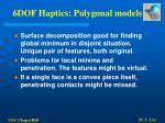 6dof haptics polygonal models60