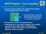 6dof haptics voxel sampling50