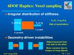 6dof haptics voxel sampling53