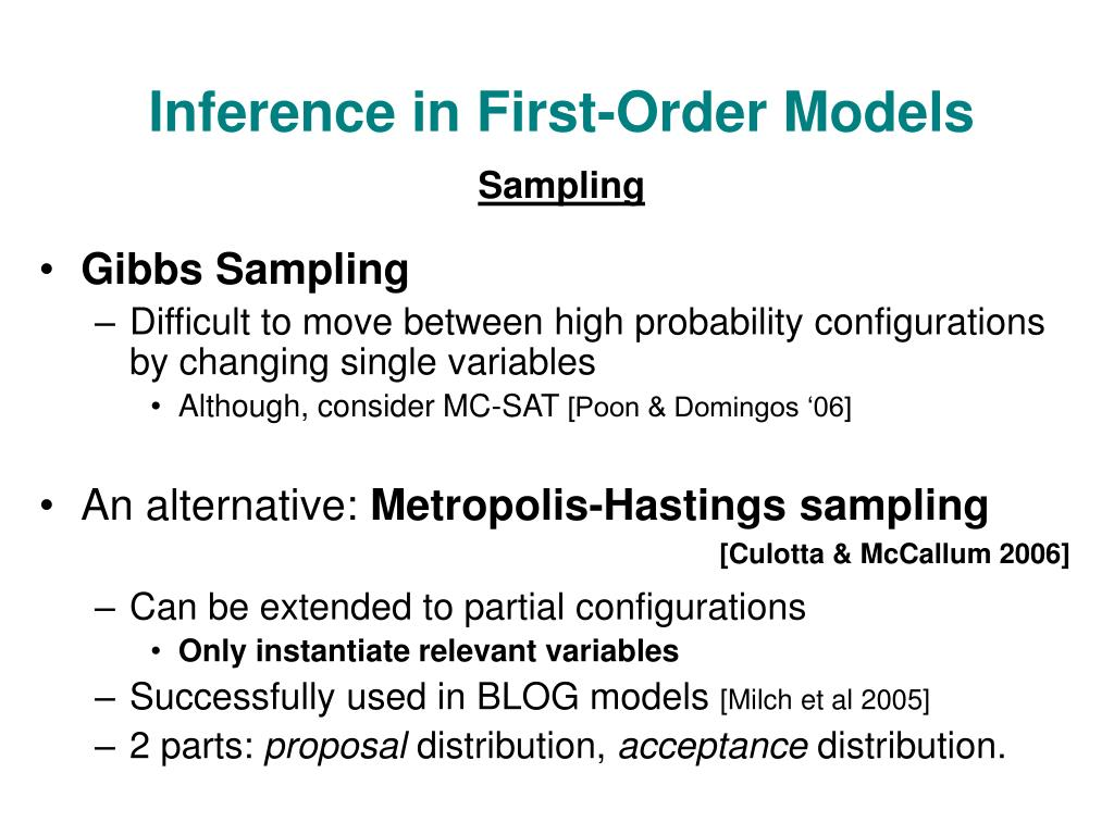 Inference in First-Order Models