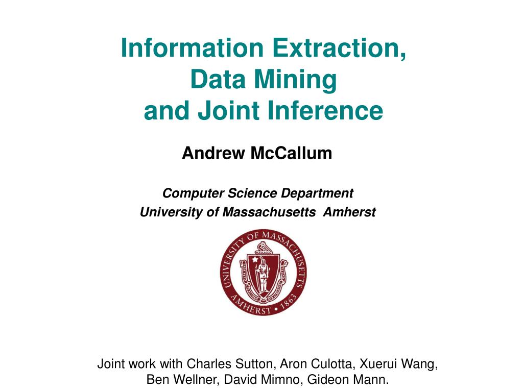 Information Extraction,