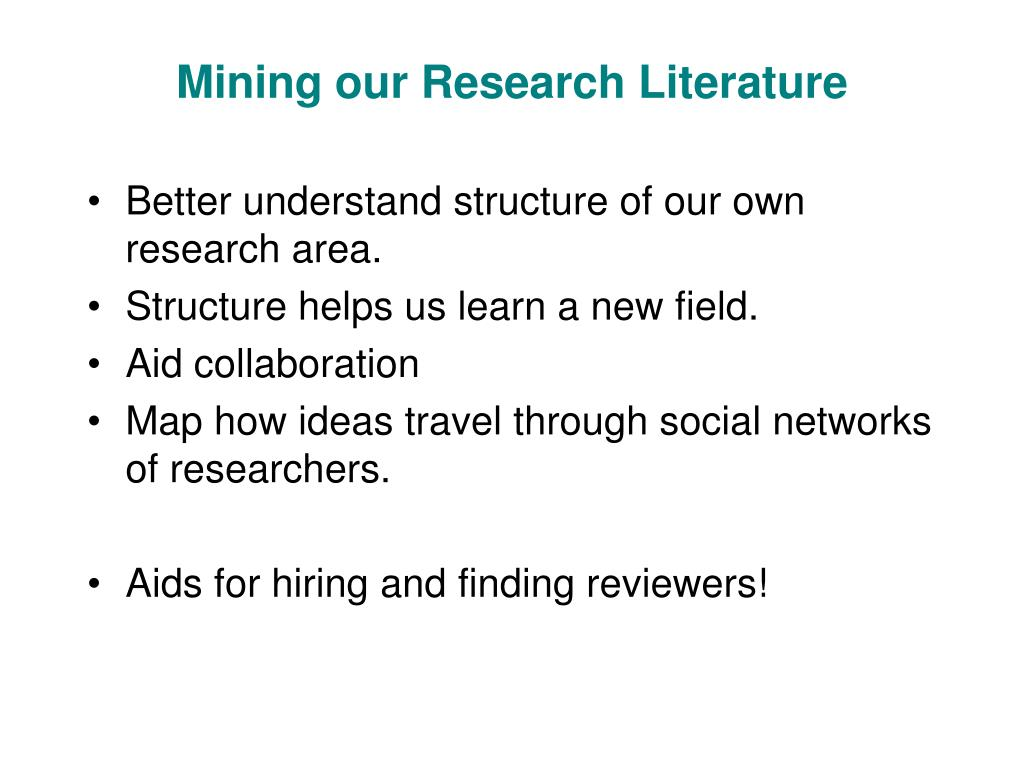 Mining our Research Literature