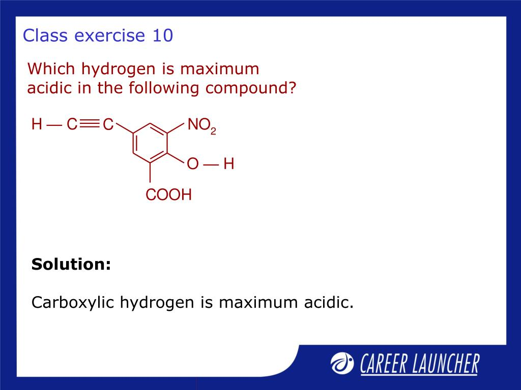Which hydrogen is maximum acidic in the following compound?