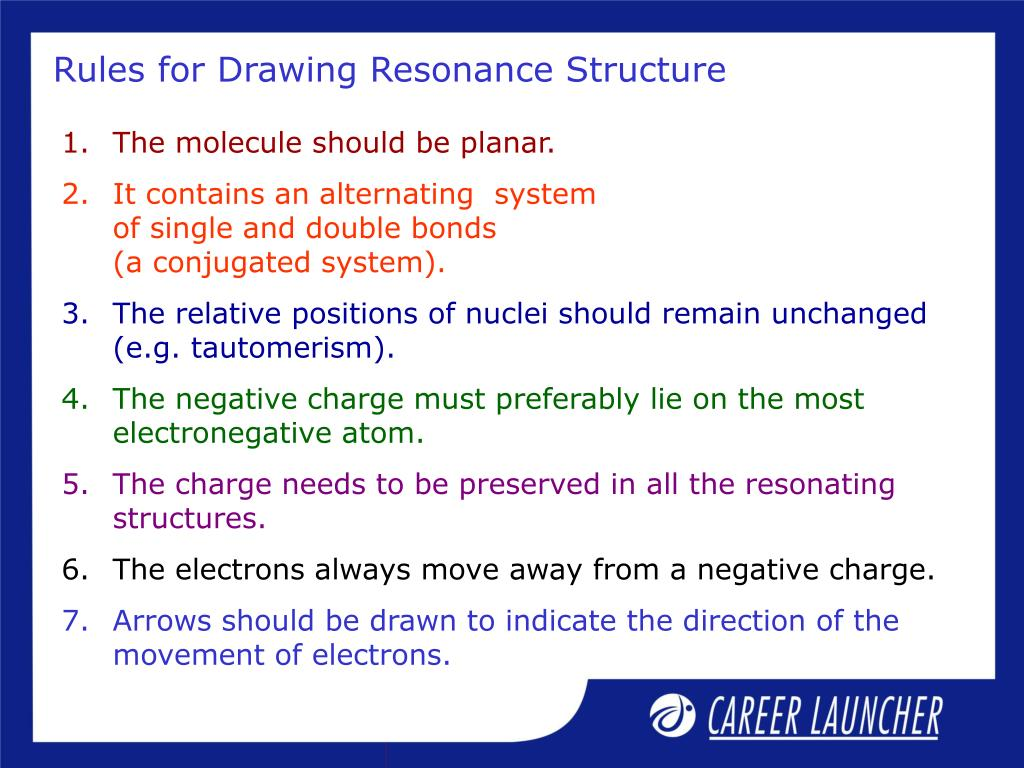 Rules for Drawing Resonance Structure