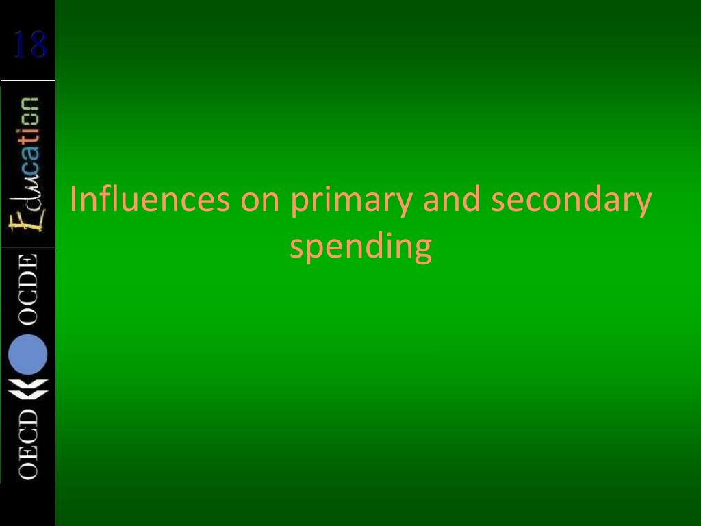 Influences on primary and secondary spending