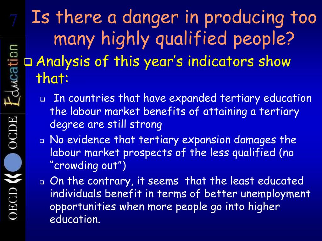 Is there a danger in producing too many highly qualified people?