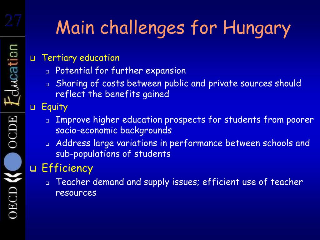 Main challenges for Hungary
