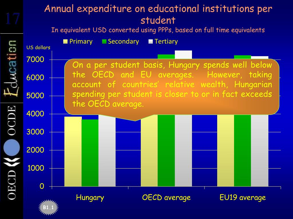 Annual expenditure on educational institutions per student