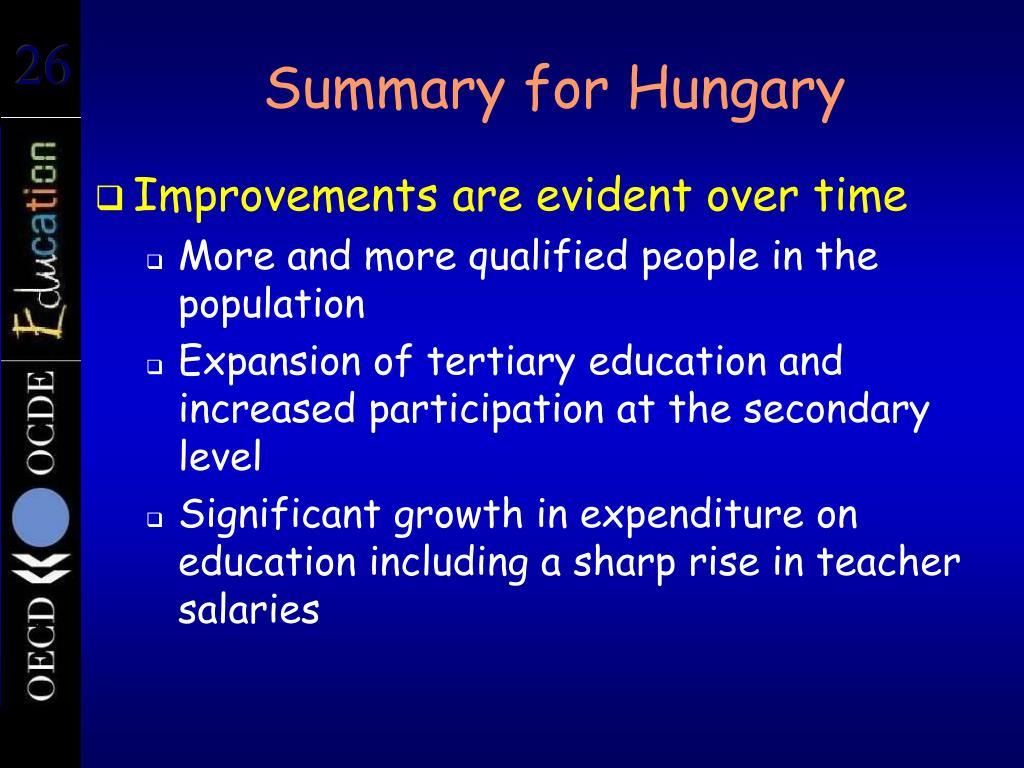 Summary for Hungary
