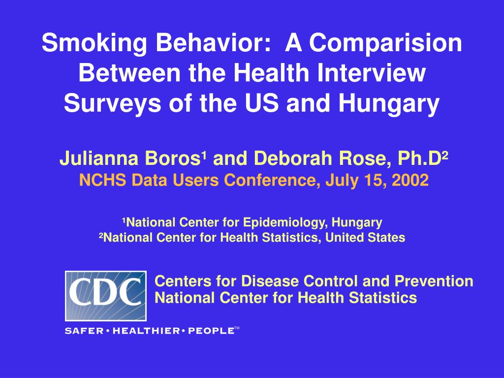 smoking behavior a comparision between the health interview surveys of the us and hungary l.