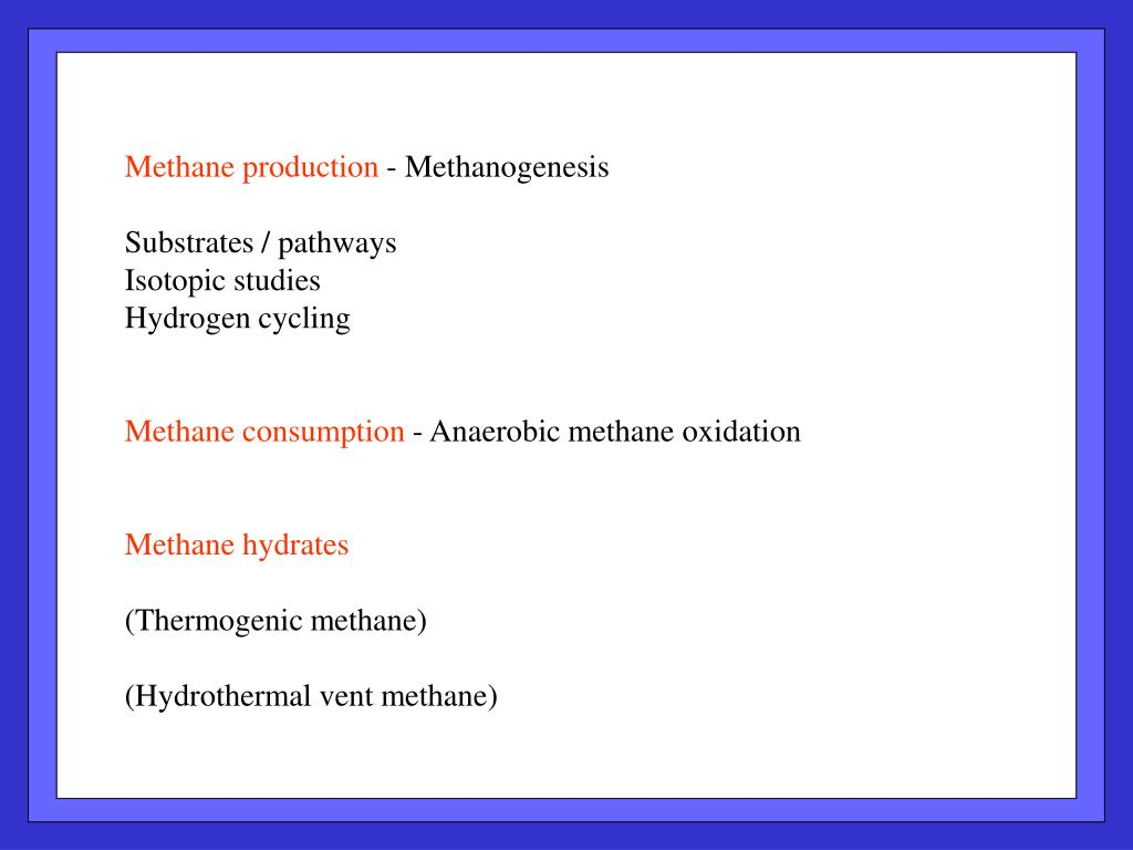 Methane production