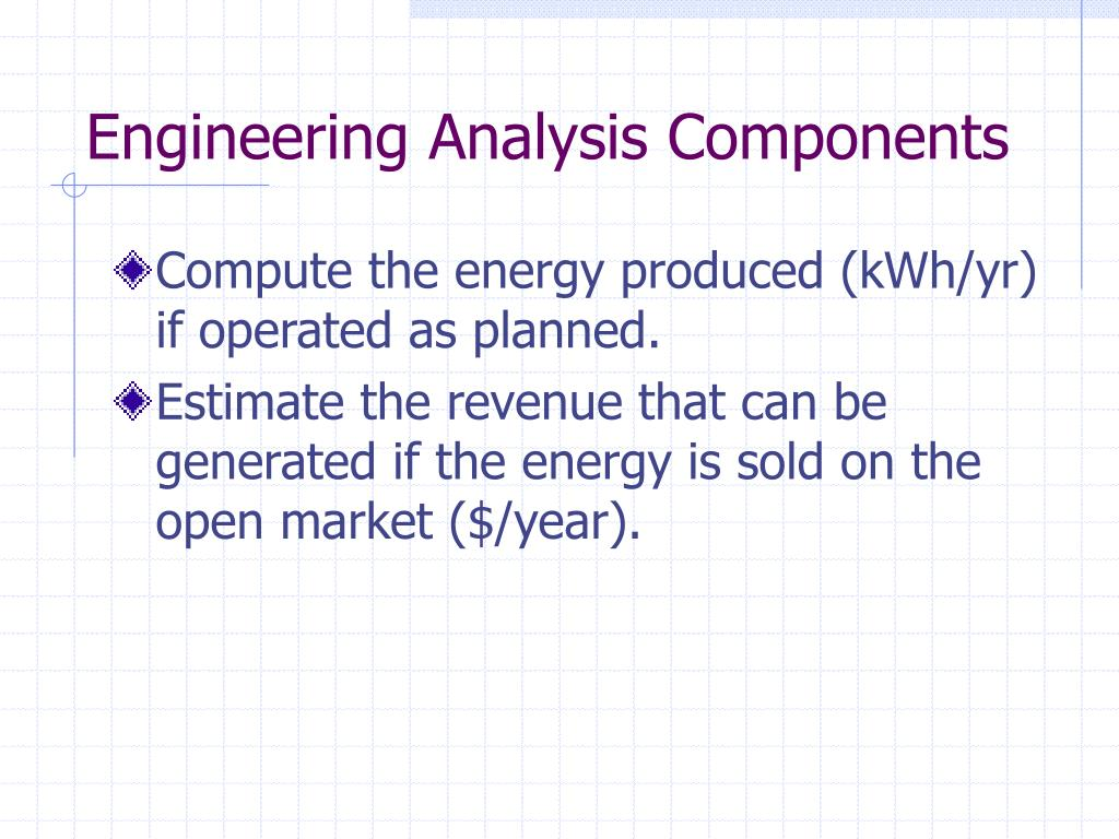 Engineering Analysis Components