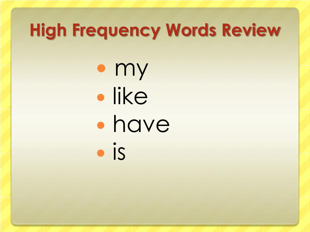 High Frequency Words Review