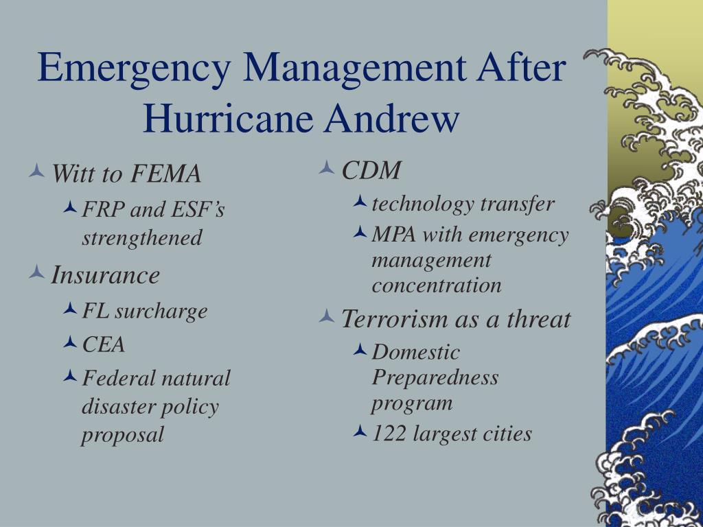 Witt to FEMA